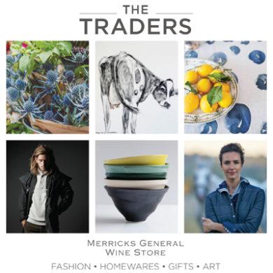 Autumn traders postcard artwork